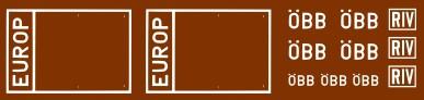 Decals Siebdruck ÖBB Güterwagen Symbole Zusatz H0 1:87