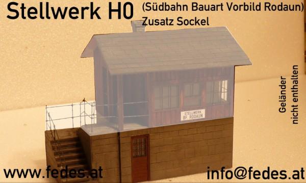 Stellwerk Zusatz Stiegenaufbau Südbahn Bauart H0 1:87