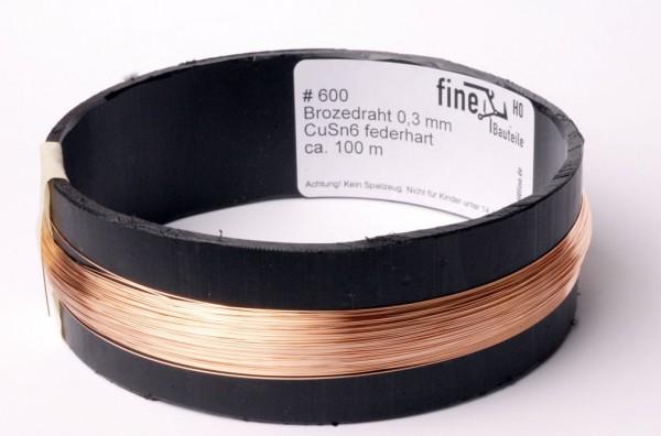 Bronzedraht 0,3 mm Spule mit ca. 100 m