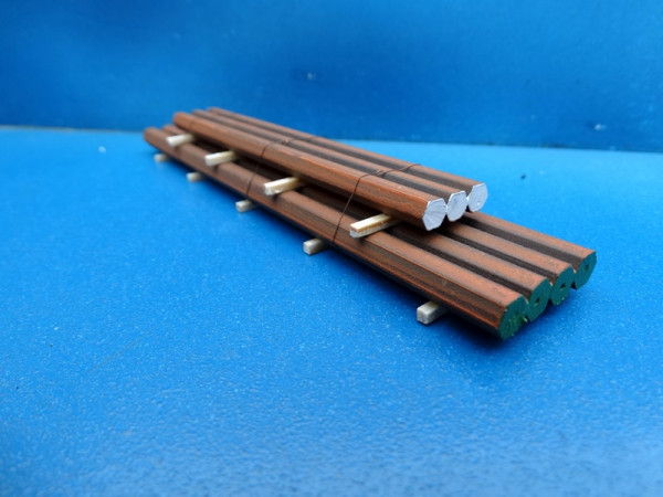 Eisenstangen-Stapel