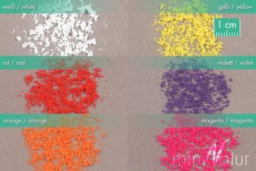 Blüten lose / Loose blossoms 6x weiß Größe: ca. 30ml Maßstab: H0/0