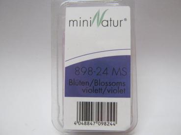 Blüten lose / Loose blossoms 6x violett Größe: ca. 30ml Maßstab: H0/0