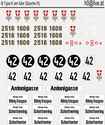 Decals K am 42er H0 1:87