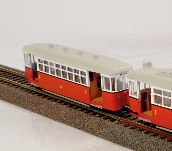 Wiener Straßenbahn Beiwagen k6 Fertigmodell 1:87 H0
