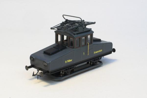 E-LOK NUMMER 2 ST. PÖLTEN Epoche 3 a-b (Grau) FINE Ausführung motorisiert H0