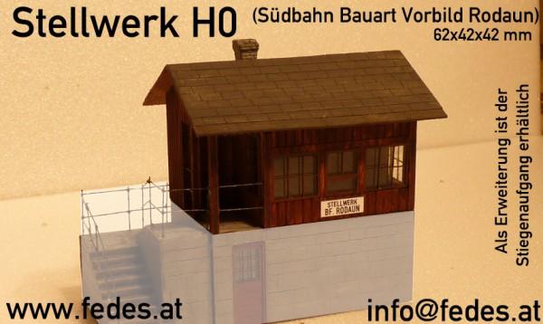 Stellwerk Südbahn Bauart H0 1:87