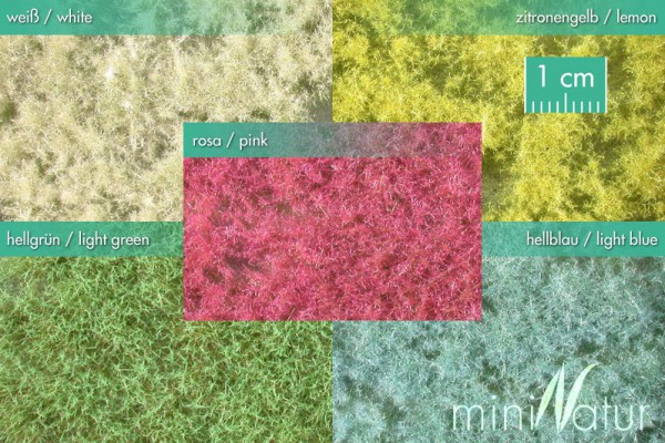 Bodendecker, farbig Größe: 5x ca.15x9 cm Frühling 1 : 87 Stück