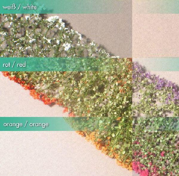 Blumen-Sortiment/ Flowers sample pack alle Farben Größe: 6x ca.15 cm Maßstab: 1:87
