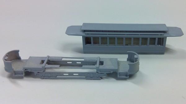 Wiener Straßenbahn Triebwagen T mit Kobelverglasung Bausatz 1:87 H0