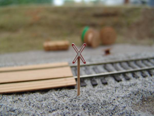 Andreaskreuz eingleisig 4 Stück