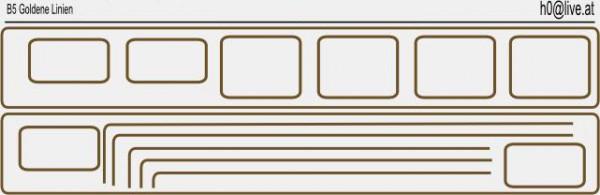 Decals Goldene Linien H0 1:87