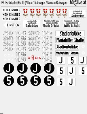 Decals Altbauwagen (Epoche III) Halbstarke (Altbau Triebwagen und Neubau Beiwagen) H0 1:87