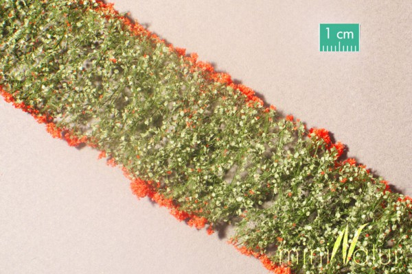 Blumen / Flowers rot Größe: 6x ca.15 cm Maßstab: H0/0