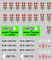 Decals Siebdruck Wappen und Pikogramme / Altbau H0 1:87